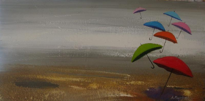 Original painting        Umbrellas