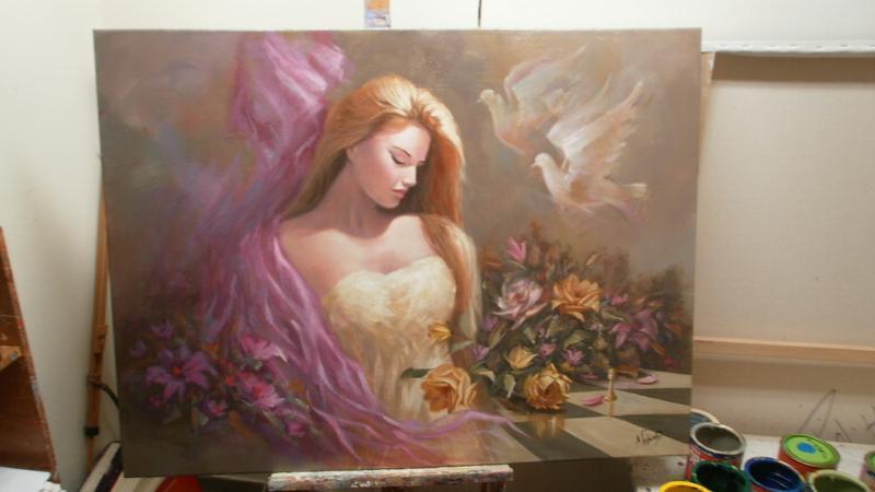 Κοπέλα με λουλούδια