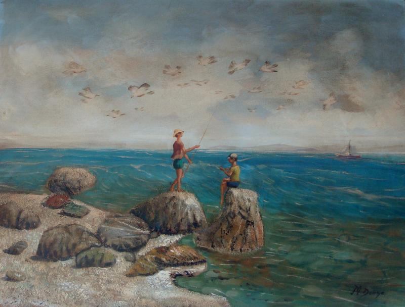 Original painting                 the fishermen