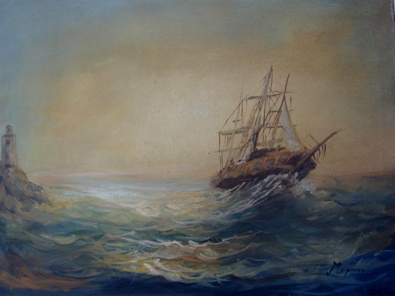 ΠΙΝΑΚΑΣ ΖΩΓΡΑΦΙΚΗΣ              καράβι       Μαρίνου Α.