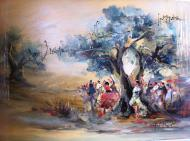 Original painting             Under the olive