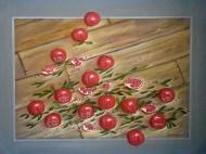 Original painting               pomegranate in the floor