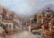 Original painting            village