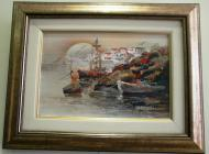 Original painting                the harbour