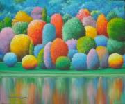 Original painting               COLOURFUL LANDSCAPE