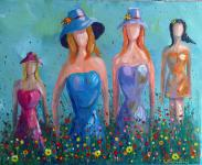 Original painting   GIRLS